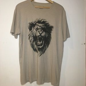 LUCKY BRAND • Pirate Lion Graphic T-shirt • Cream